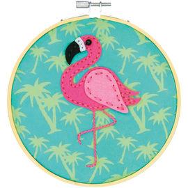 Flamingo Felt Applique