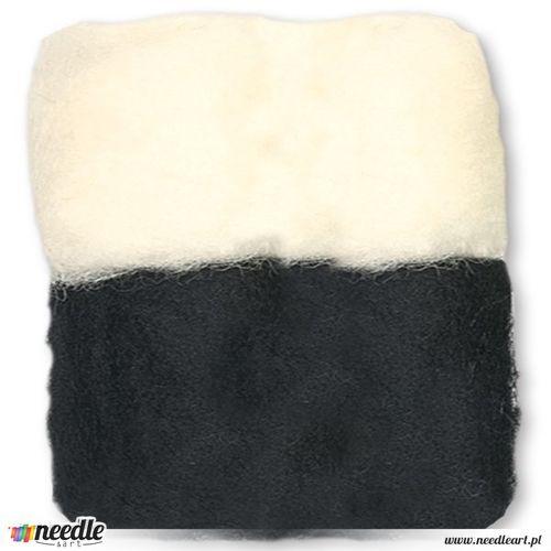 Bulk White/Black Wool