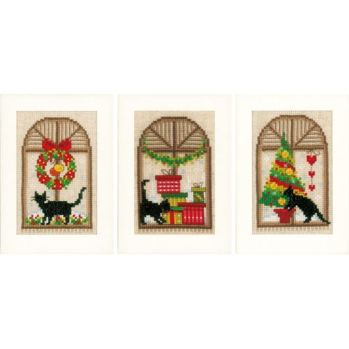 Cats - Christmas Cards (3 pcs)