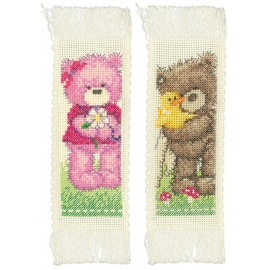 Bears - Popcorn - two bookmarks