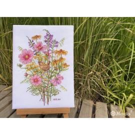 September Flowers and Wren