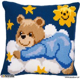 Blue bear - pillowcase
