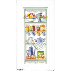 Romantic kitchen shelf