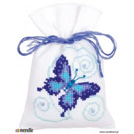 Blue butterflies (set of 3)