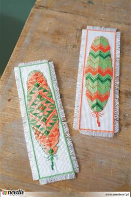 Feathers - two bookmarks
