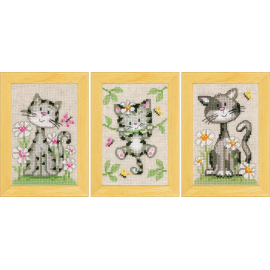 Cats (icons, set of 3)