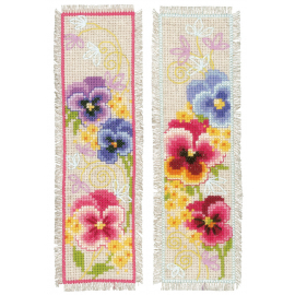 Violets - two bookmarks