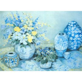 Blue Delphinium - Full Color Print