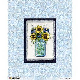 Floral Jar Stitch & Mat