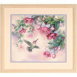 Hummingbird & Fuchsias