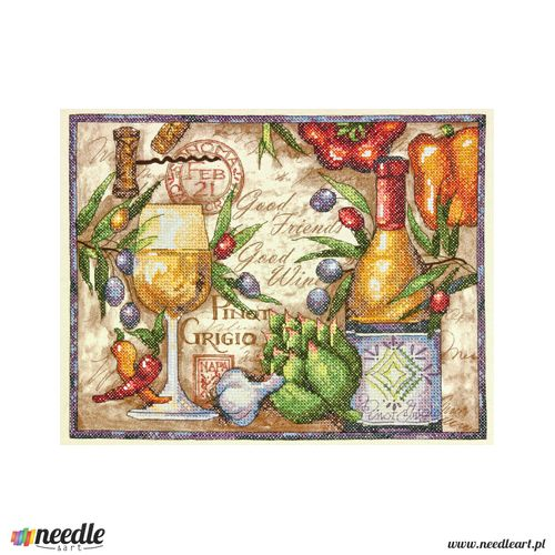 Pinot Grigio Stamped Cross Stitch