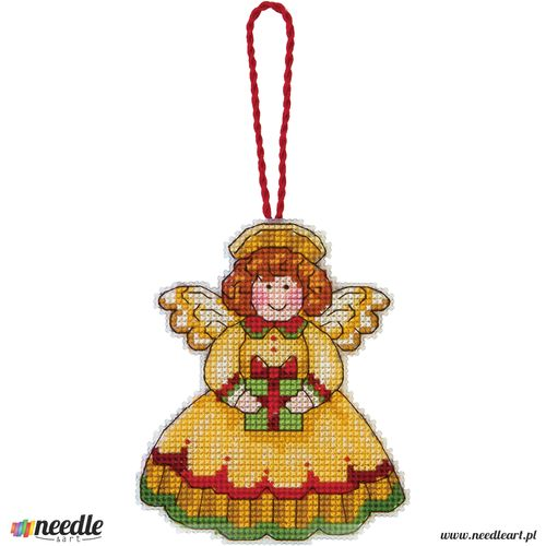 Angel Counted Cross Stitch Ornament