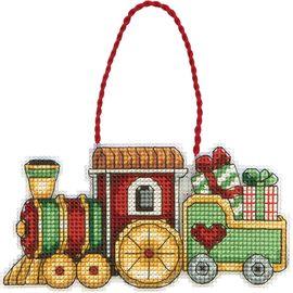 Train Counted Cross Stitch Ornament