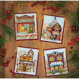 WINTER VILLAGE ORNAMENTS