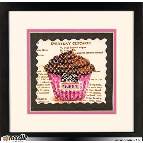 Everyday Cupcakes Stamped Cross Stitch