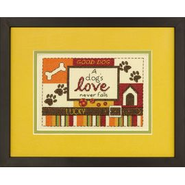 A Dog's Love Counted Cross Stitch