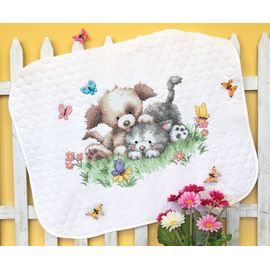 Pet Friends Quilt Stamped Cross Stitch