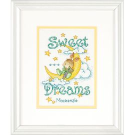 Sweet Dreams Birth Record Counted Cross Stitch