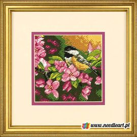 Chickadee in Pink