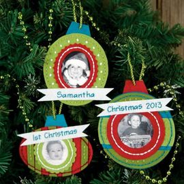 Framed Ornaments in Felt Applique