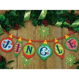 Jingle Banner in Felt Applique