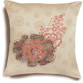 Rose Patch Pillow Cover