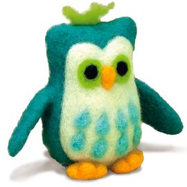 Owl Felted Character Needle Felting Kit