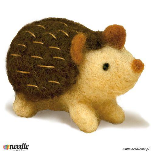 Hedgehog Felted Character Needle Felting Kit