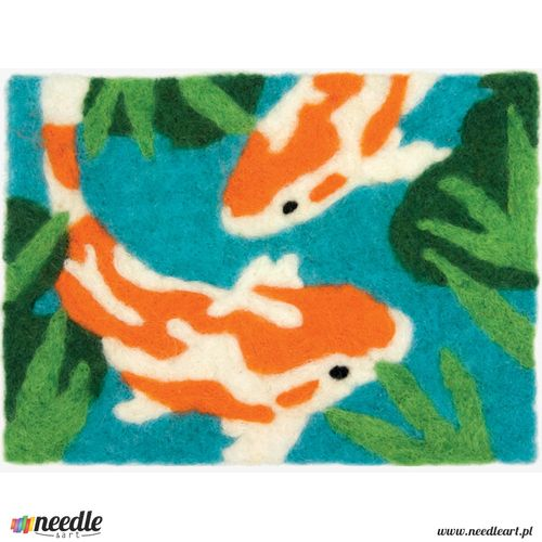 Koi Needle Felting Art