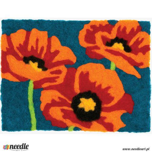 Poppies Needle Felting Art