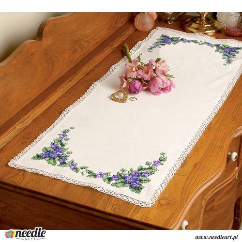 Pretty Violets Dresser Scarf