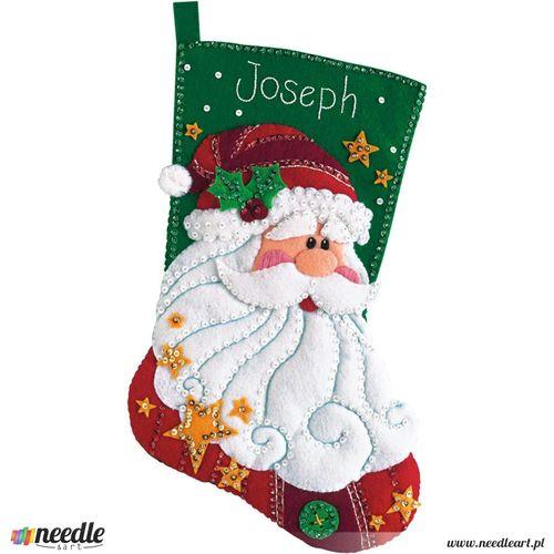 Sequined Santa Stocking