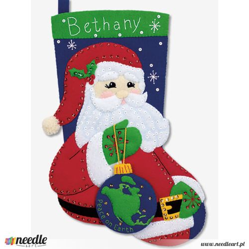 Peace Santa Stocking