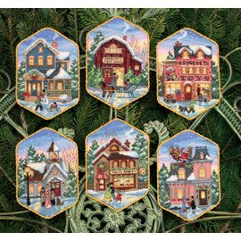 Christmas Village Ornaments (6)