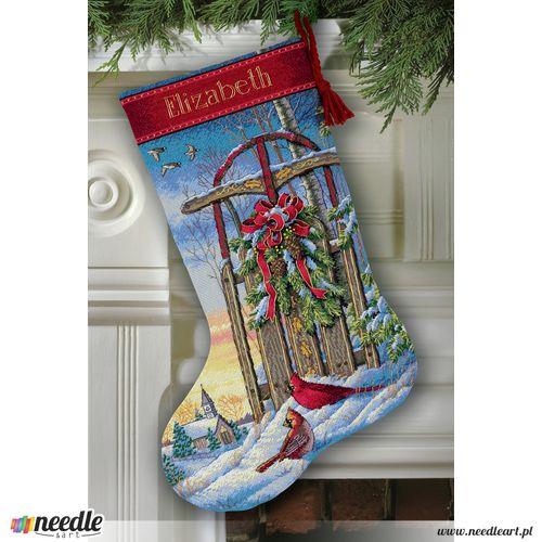 Christmas Sled Stocking