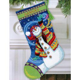 Happy Snowman Stocking
