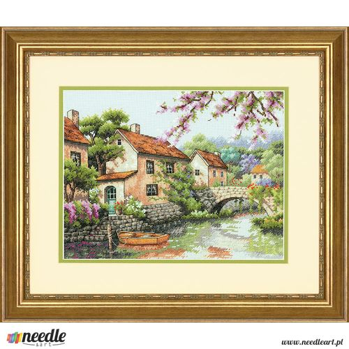 Village Canal - Cross Stitch Kit