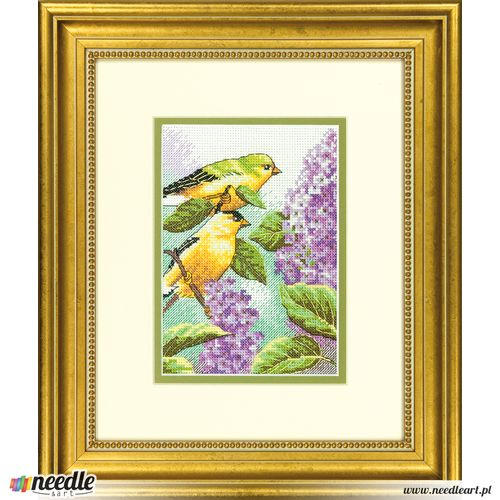 GOLDFINCH AND LILACS