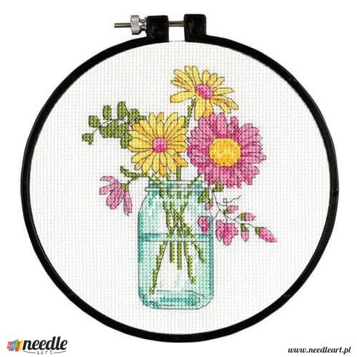 Summer Flowers Learn-A-Craft - Beginner Cross Stitch Kit