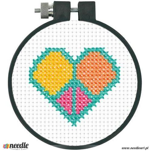 Peace And Love Learn-A-Craft - Beginner Cross Stitch Kit