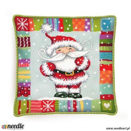 Patterned Santa Pillow