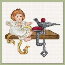 Stitching Angel Feeding the Sewingbird - Chart