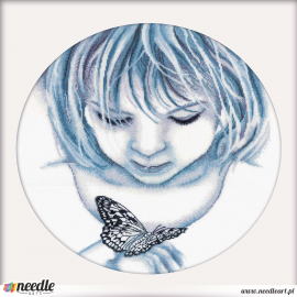 Girl with batterfly