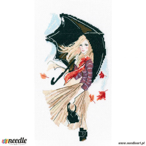 Girl, rain and umbrella