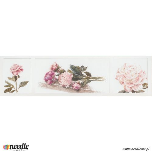 Pink Peonies - Triptych