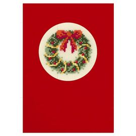 Christmas Wreath - Postcard