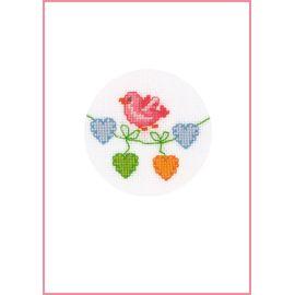 Pink Bird - Greeting Card