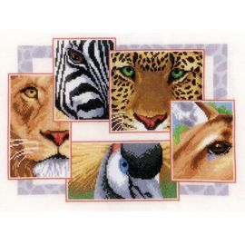 Exotic Wildlife Collage